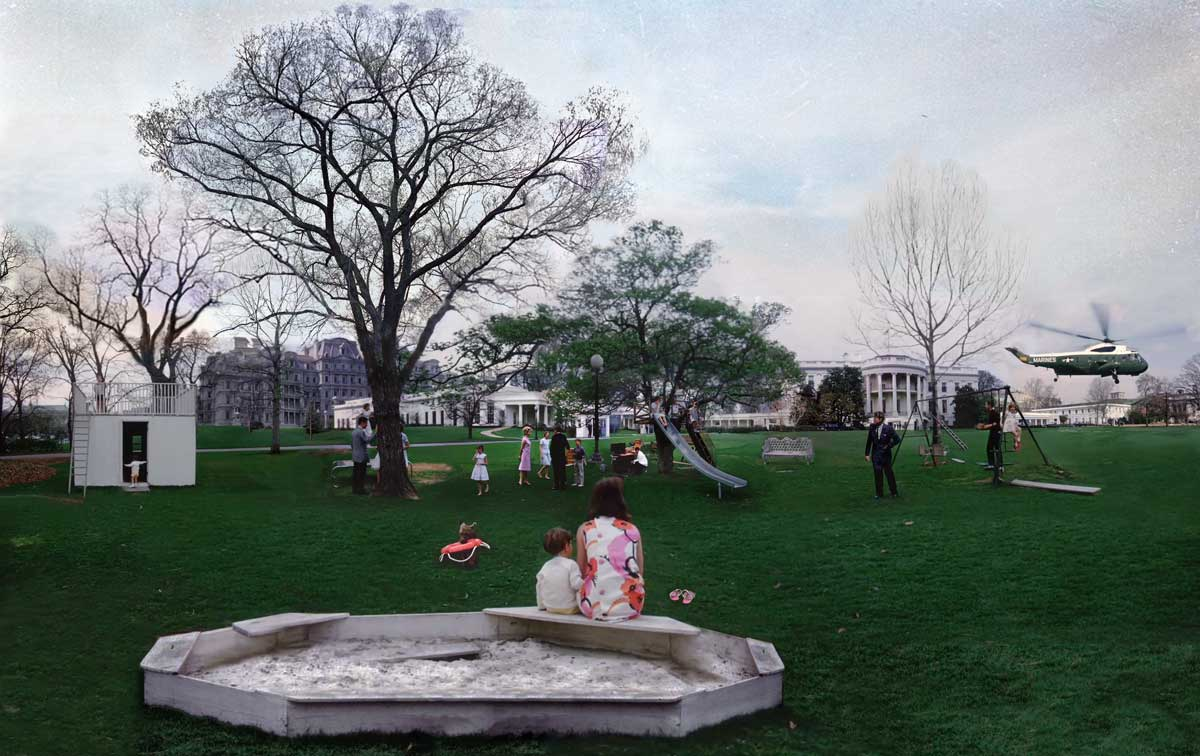 La Collation: Picnic on the South Lawn, April 4th, 1963